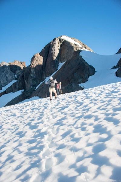 on the beauty glacier, looking toward Nine Peaks