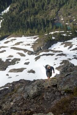Hiking to Crown Mountain