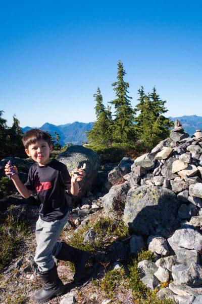 on the summit of Green Mountain
