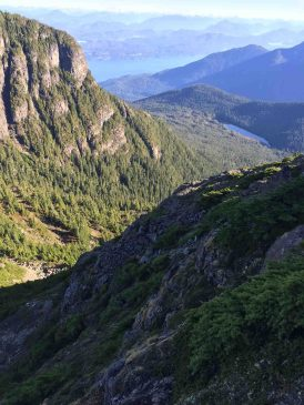 the Johnstone Strait from Tsitika Mountain