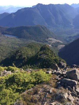 hiking to Tsitika Mountain on Vancouver Island