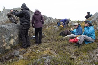 The Island Mountain Ramblers have lunch