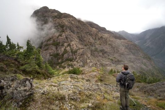 hiking Stevens Peak in the Tlupana Range