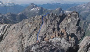 the blue line is the edge of the ridge we are standing on.