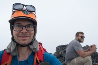 the two of us on the summit of Mount Kent-Urquhart.