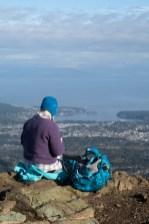 snack on the summit of Mount Benson.