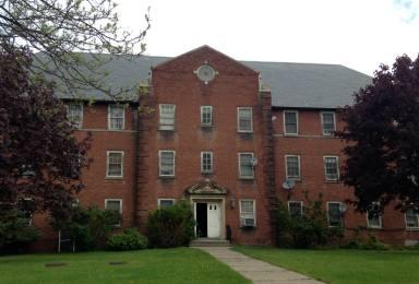 Building on the Willard Asylum Campus in Ovid, NY