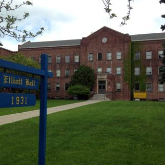 Elliott Hall facade, Established 1931