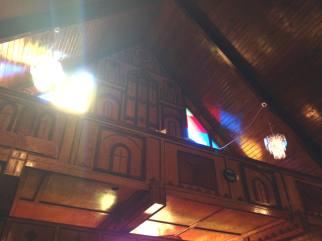 Detail in Sanctuary at the Mt. Erie Baptist Church in Niagara Falls, New York