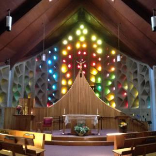 Altar Inside St. Januarius Church in Naples, New York