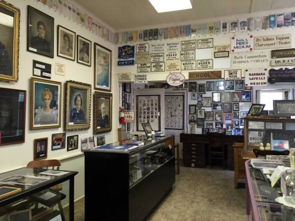 Inside the Lily Dale Museum