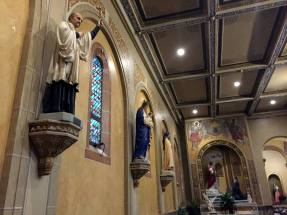 Side Altar and Saints in St. Luke's Mission in Buffalo, New York