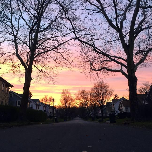 Sunset in the North Winton Village Neighborhood of Rochester, New York