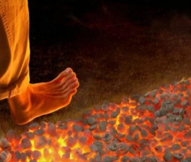 Firewalking Walking Over Hot Coals