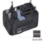 I've had a few universal plugs and this type is by far the best one. It even has two USB ports!