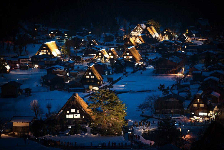 japan snow houses