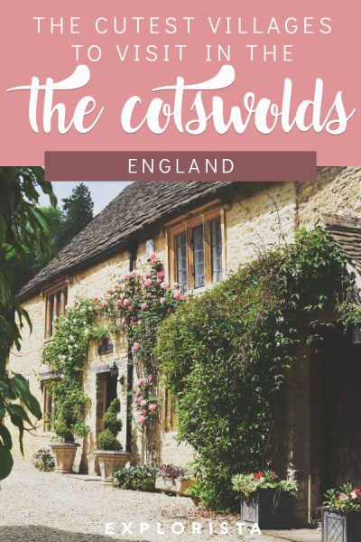 Did you know the Cotswolds was a region, not a specific town or county? To help you plan your trip, here are the cutest villages you don't want to miss! From Bibury to Castle Combe and more. #cotswolds #unitedkingdom #england #englishcountryside
