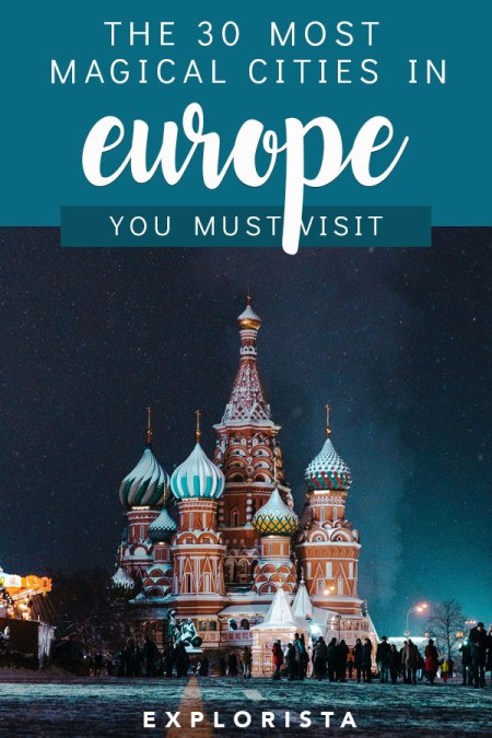 Planning a big trip to Europe? Here are the 30 most magical cities you do NOT want to miss! #europe #europebucketlist #europetrip #europetravel #visiteurope