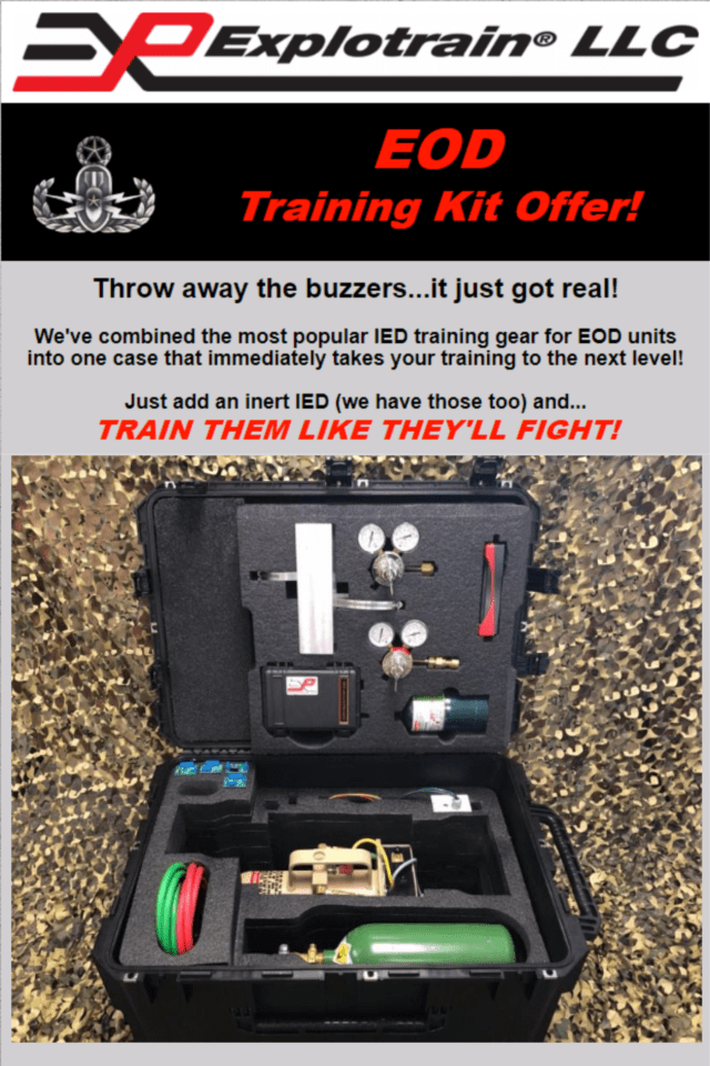 Graphic for Explotrain's EOD Training Kit