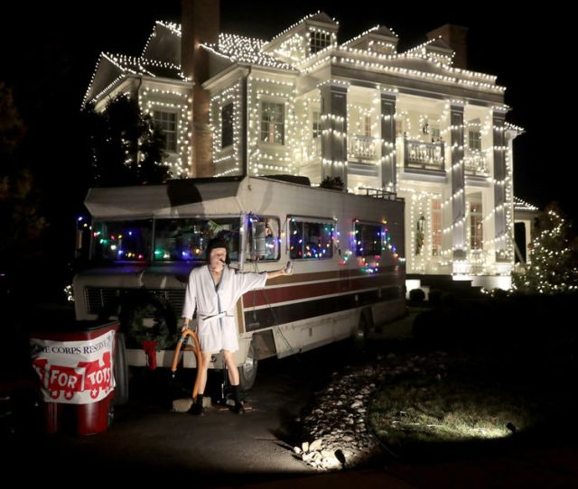 Cousin Eddie And His Rv Are Part Of Steve Harbaughs Recreated Light Display Of The Christmas Vacation Movie At His Mickleton Home Tuesday Dec