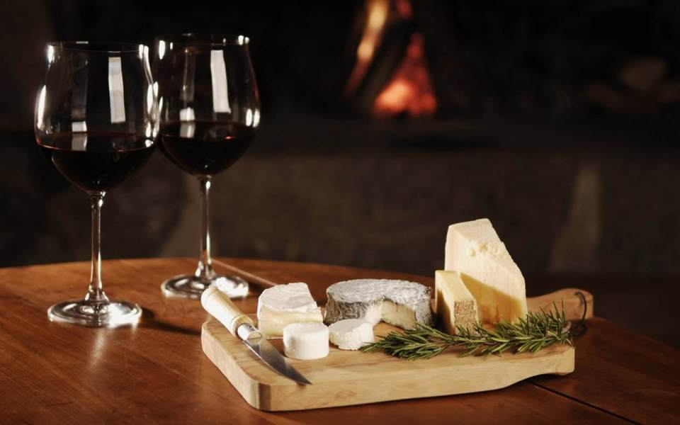 γευσιγνωσία κρασιού τυριού