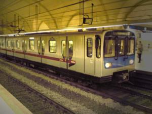 Vagone metropolitana Linea B di Roma