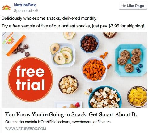 Facebook Ads di NatureBox