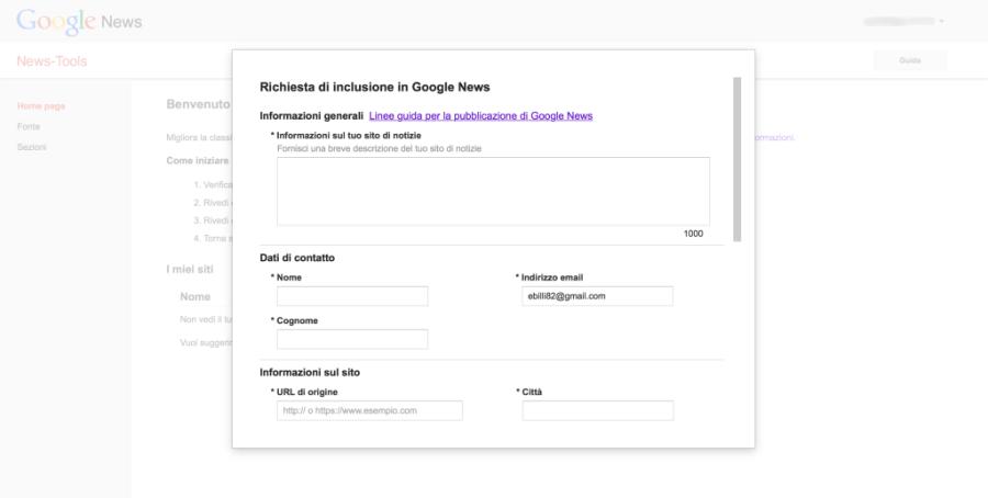 Il Centro Editori è la piattaforma per iscrivere il tuo sito a Google News: la richiesta di inclusione in Google News riceve risposta entro 7 giorni circa
