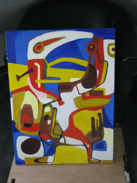 Kind V Karel Appel 50 x 70 Acril Canvas doek