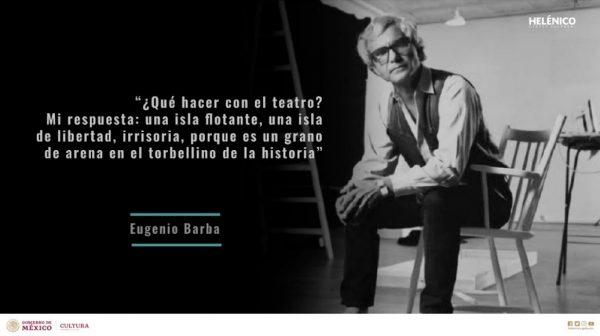 Eugenio Barba considerado una de las voces de mayor resonancia en el ámbito escénico mundial, se presentará en México junto a la connotada actriz británica Julia Varley… 17 y 18 de enero