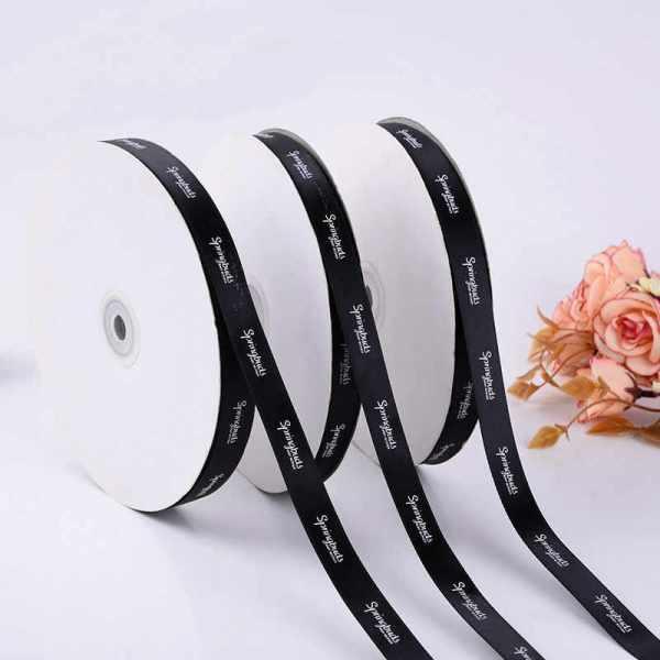 Cinta-de-raso-con-Logo-personalizado-alta-calidad-100-yardas-para-regalos-personalizados-cajas