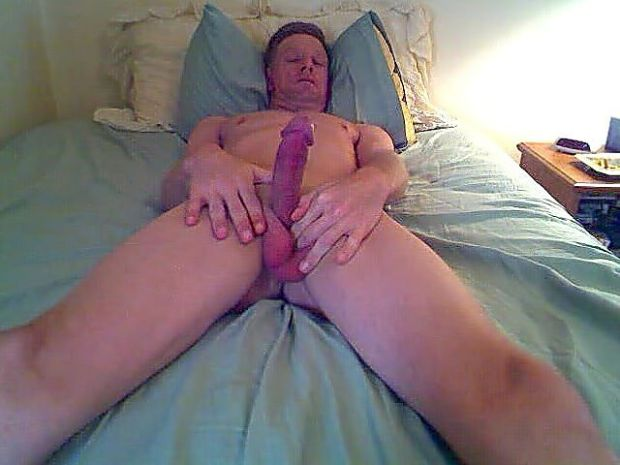 David Steckel with morning erection