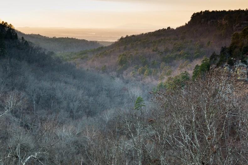 Arkansas Hills at Dusk