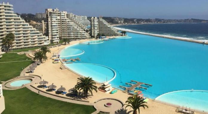 SAN ALFONSO DEL MAR biggest swimming pool in the world