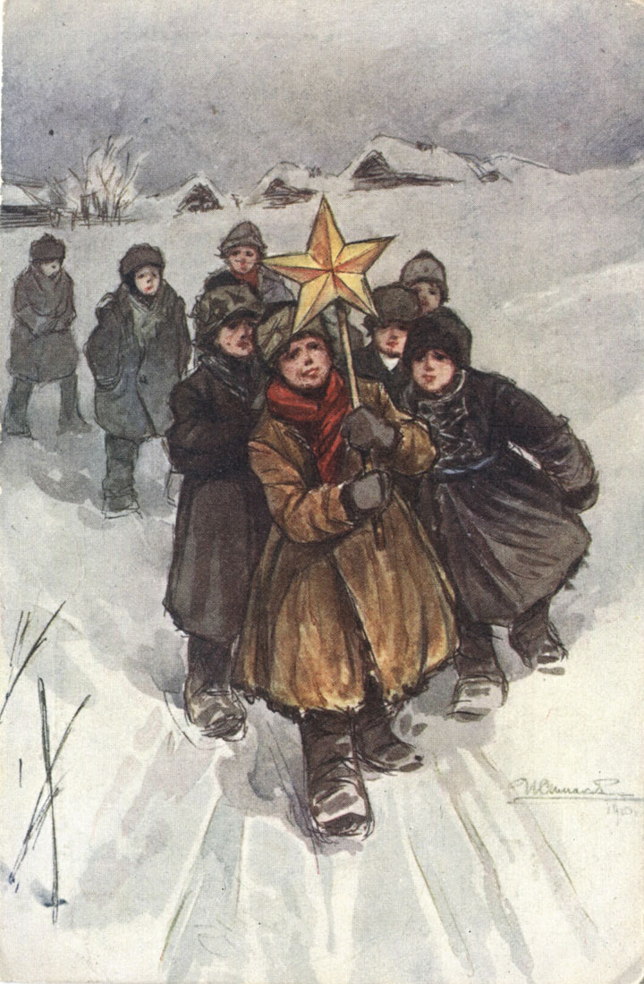 Russian Christmas And New Years Cards Postcards By The