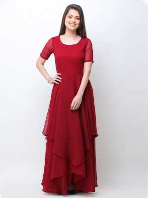 womens maroon dress