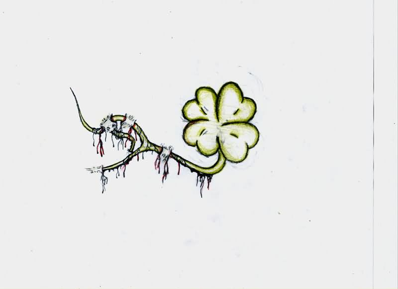4 leaf clover tattoo