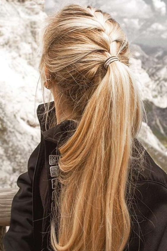 casual hair style for long hair