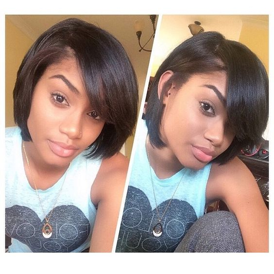 black hair bobs