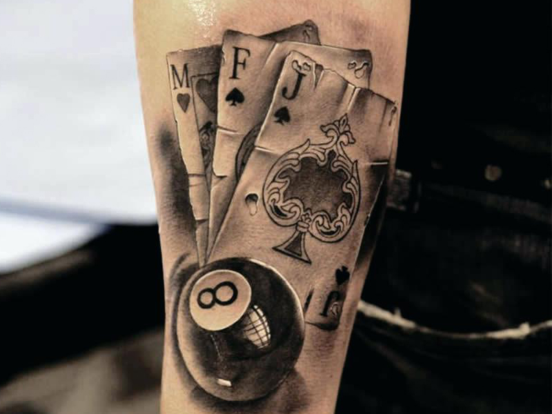 playing card tattoos