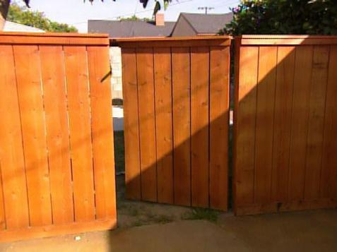simple wooden gate designs