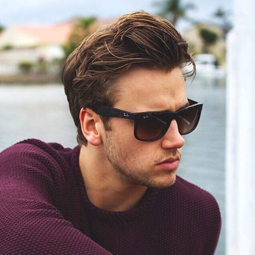 how to style medium length hair men