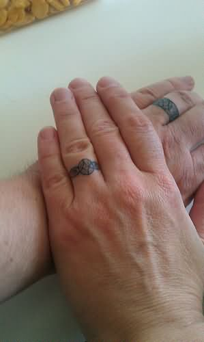mens wedding band tattoo