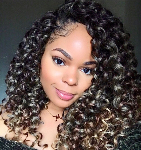 curly crochet hair styles