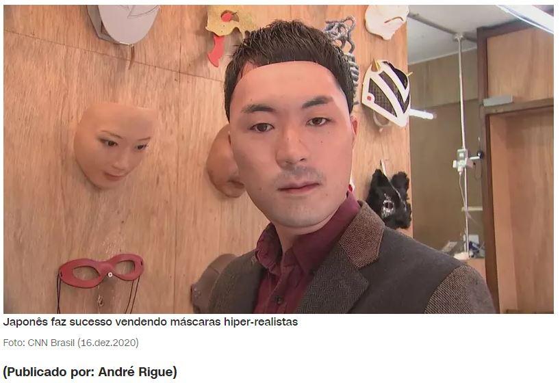 Loja japonesa vende máscaras hiper-realistas personalizadas com rosto do cliente