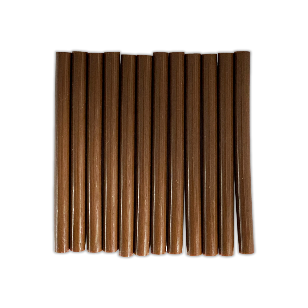 Free Shipping Ebo Fusion Hair Extension Keratin Glue Sticks Hair Bond Adhesive Glue Sticks For Hair Extension 12 Pcs Brown