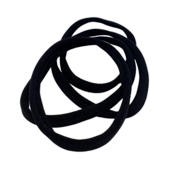 Ebo Long Size Clothes Hair Elastics Scrunchies Hair Elastic Ponytail Holder Tie Hair Accessories Black 4 Pcs