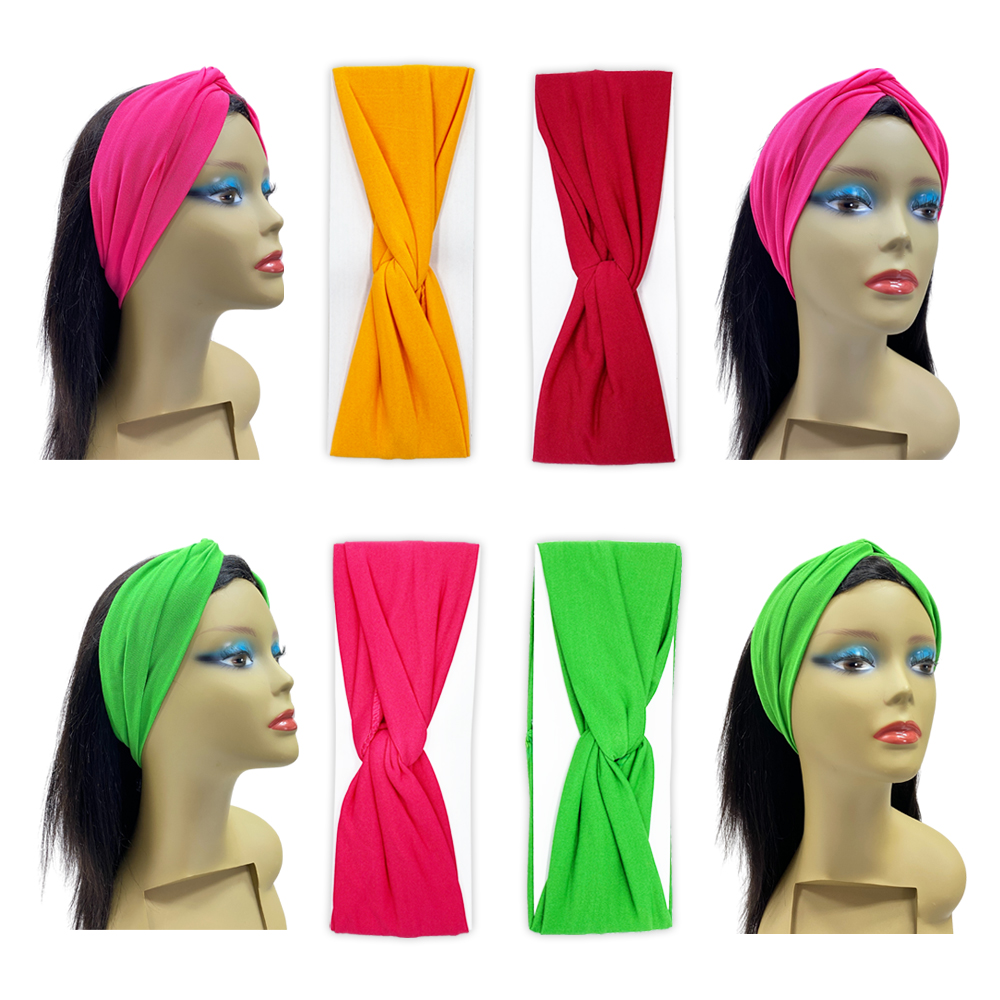 Ebo Headbands For Women Fashions Twist Knotted Headbands Yoga Workout  Non Slip Sweet Vintage Headbands Hair Accessories Assorted Color 5 Pcs