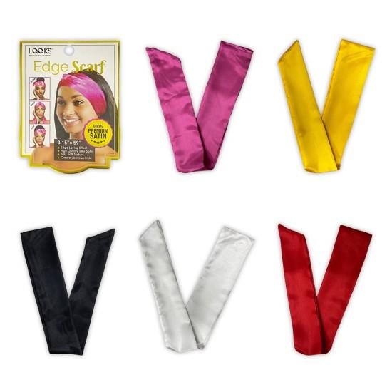 Ebo Fashion Silk Scarves For Women 100% Silk Satin LightWeight Edge Scarf