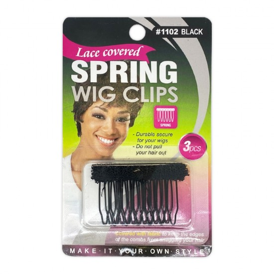 Wig Clips Steel Teeth With Cloth Wig Combs Clips Making Wig Spring Clips 3 Pcs
